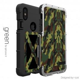 IPhone X için Metal Cep Telefonu Kılıfı - Şok Geçirmez, 360 Derece Koruma, X Tasarım