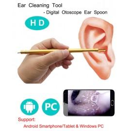 Kulak Burun Temizleme ve Kontrol Cihazı - HD Mikro Kamera, 6 LED Işık, Ayarlanabilir Parlaklık