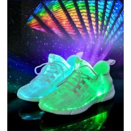 Unisex Led Fiber Optik Ayakkabı - USB Sarjlı Edilebilir, Parlayan Sneakers Ayakkabı, 25-44 Numaralar