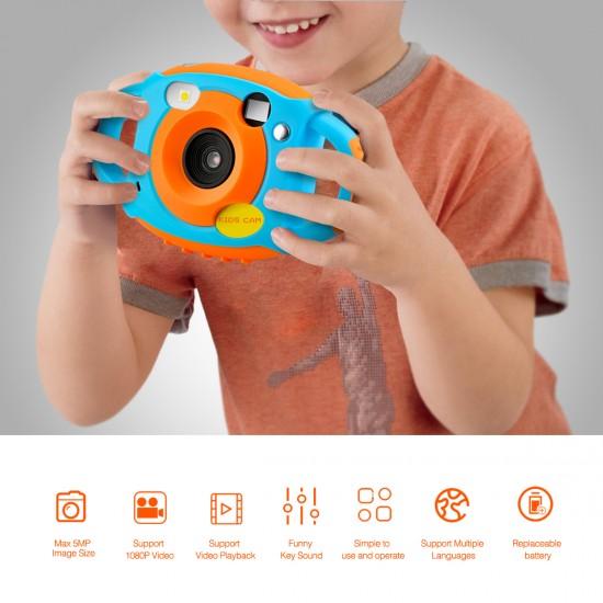 Çocuklar için 1,77 inç Ekran 5 MP DV Aksiyon Kamera - HD Video, 32 GB SD Kart Destekli, Bisiklet, Motosiklet için
