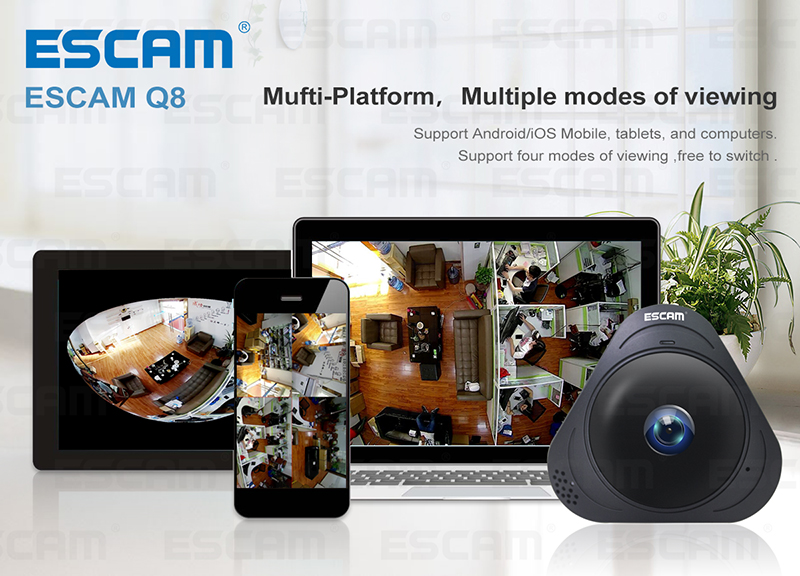 ESCAM-Q8-HD960P-13MP-Fisheye-WIFI-IP-Camera-360-Degree-Panoramic-Camera-With-Two